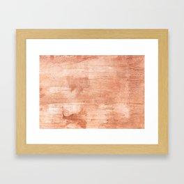 Burly wood hand-drawn aquarelle Framed Art Print