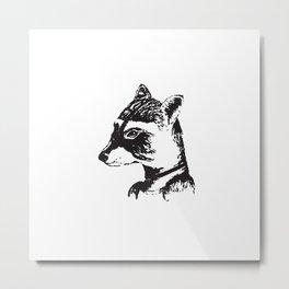 Ms. Raccoon Metal Print