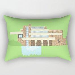 Iconic Houses - Fallingwater Rectangular Pillow