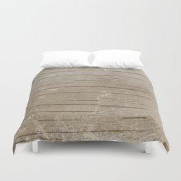Nautical Driftwood Wood Grain Pattern Duvet Cover