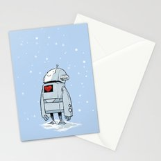 Robot Love Snow Stationery Cards