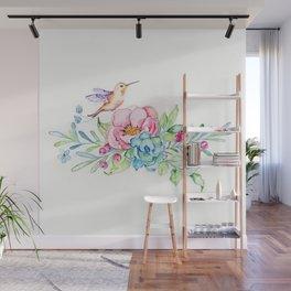 Hummingbird in Paradise Wall Mural
