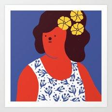 Caribbean girl Art Print