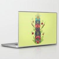 tiki Laptop & iPad Skins featuring Tiki totem by Binnyboo