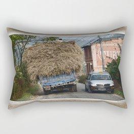 NEPALI HAY RIDE ON THE ROAD TO NAGARKOT Rectangular Pillow