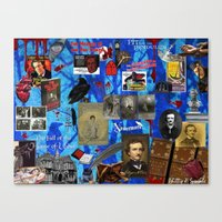 edgar allen poe Canvas Prints featuring Edgar Allen Poe by Phillip J. Speciale