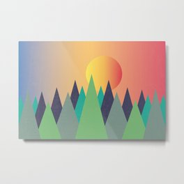 Mountains - The Sunset Metal Print