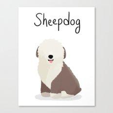 Sheepdog - Cute Dog Series Canvas Print