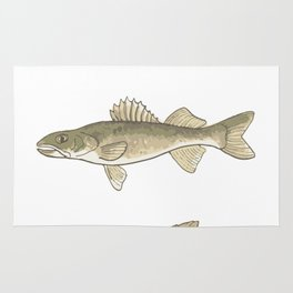 Trout, Bass, & Walleye Rug