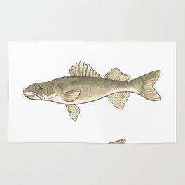 Trout, Bass, & Walleye Rug