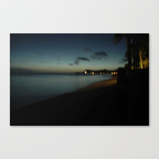bora bora blue Canvas Print