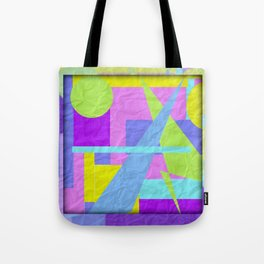 Geom Shaping Bright Tote Bag