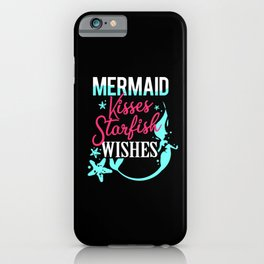 Mermaid Kiss Wish Starfish Half Human Half Fish iPhone Case