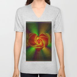 Abstract in perfection - Rose Unisex V-Neck