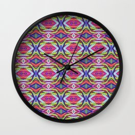 Multicolor Layered Stripes Pattern Wall Clock
