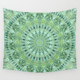 Mary Jane Mandala (green) Wall Tapestry