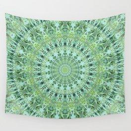 Mary Jane Mandala (green) Wall Tapestry