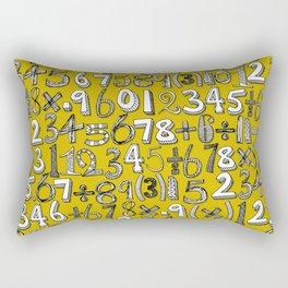 math doodle yellow Rectangular Pillow