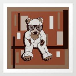 Cool bears need hugs too. Art Print