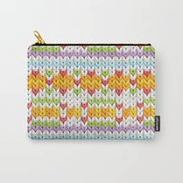Witty Faux Fair Isle Carry-All Pouch