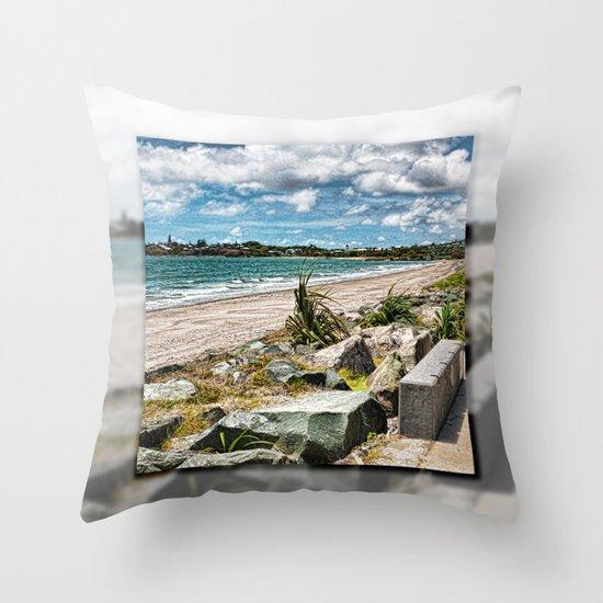 Beautiful Bay View Throw Pillow