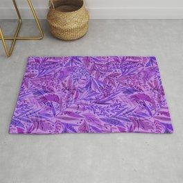 Purple Palm Pattern Rug