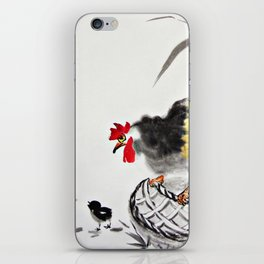 Rooster and Its two chicks iPhone Skin