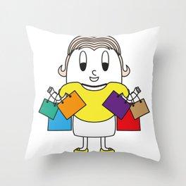 Shopper Egg Throw Pillow