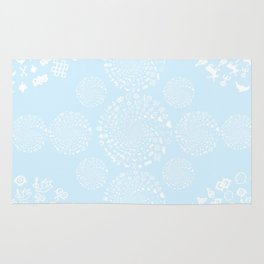 Snow & Ice Love Symbol Mandala Rug