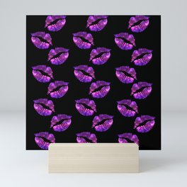 Galaxy Lips Mini Art Print