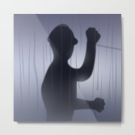 If you're Home Alone, showering... Metal Print