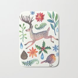 Christmas will come again Bath Mat