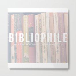 Bookaholic. Metal Print