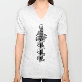 A Dagger. Unisex V-Neck