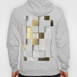 Elegant Cube wall 3D art- white and gold Hoody