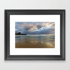 Reflections on the shore  Framed Art Print
