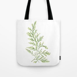 Fern Leaf Watercolor Painting Tote Bag