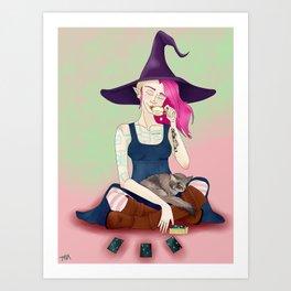 Cassandra and Silver Mist Art Print