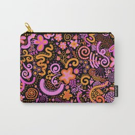 Pink Orange Yellow Zendoodle Carry-All Pouch