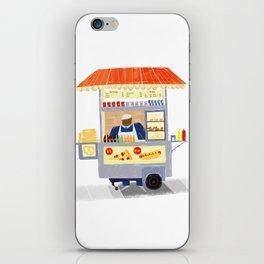 NY Street Food vendor iPhone Skin