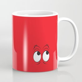 Monster Eyes Red Coffee Mug