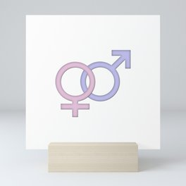 Girls and boys Mini Art Print