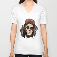 venus V-neck T-shirts featuring Venus by Julio César