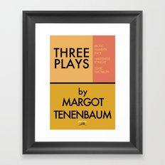 Three Plays By Margot Tenenbaum Framed Art Print