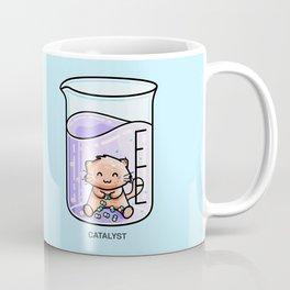 Catalyst Cute Cat Chemistry Science Pun Coffee Mug