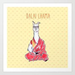 Dalai Lhama Art Print