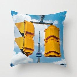Between the Lights. Toronto Cityscape Photograph  Throw Pillow