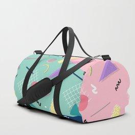 Dreaming 80s Pattern #society6 #decor #buyart Duffle Bag