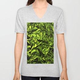 Crinkled Green Wrapping Paper Unisex V-Neck