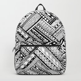 Tribal Geomatric Square Pattern Backpack